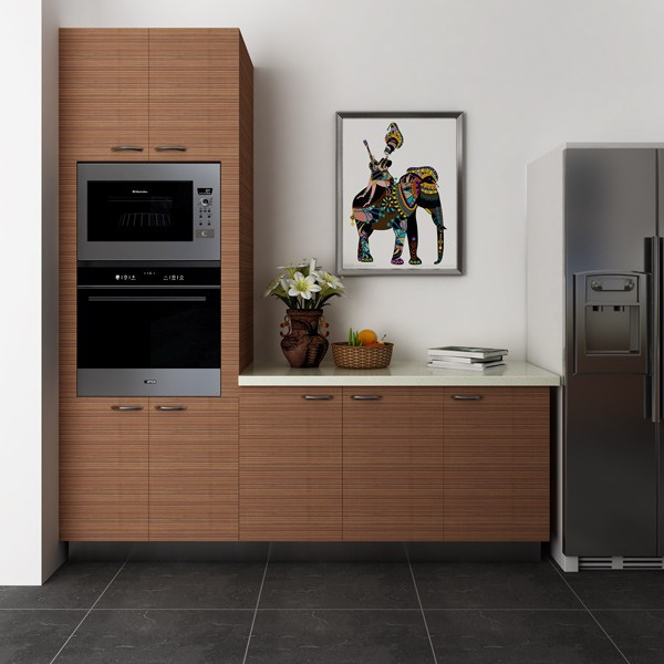 Modular Kenya Project Simple L Shaped Small Kitchen: Modulaire Kenia Projectcoördinator Eenvoudige L- Vormige