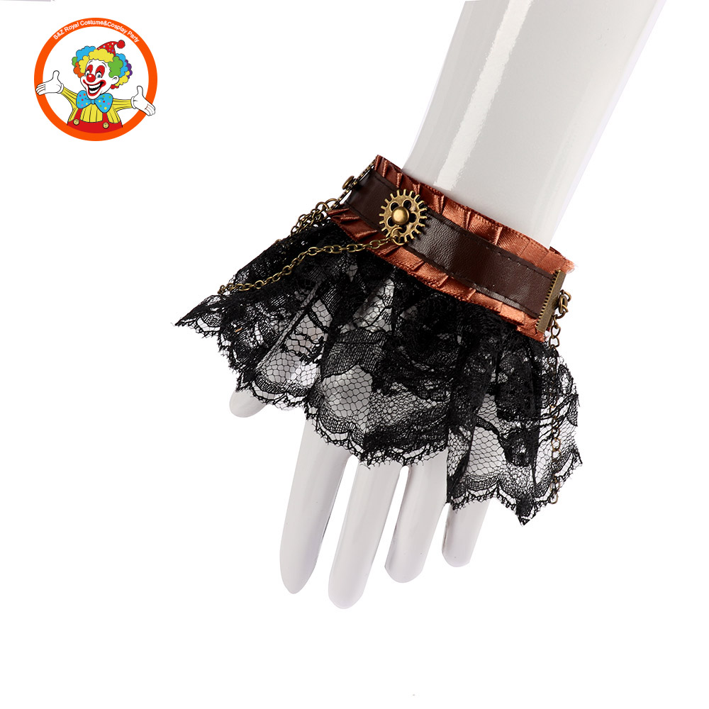 Party Steampunk Costume Set Wrist and Mini Top hat Headband