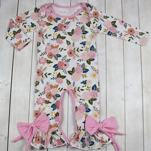 Newborn Baby Clothes Floral Kids Baby Ruffle Romper Infant Baby Clothes Romper Latest