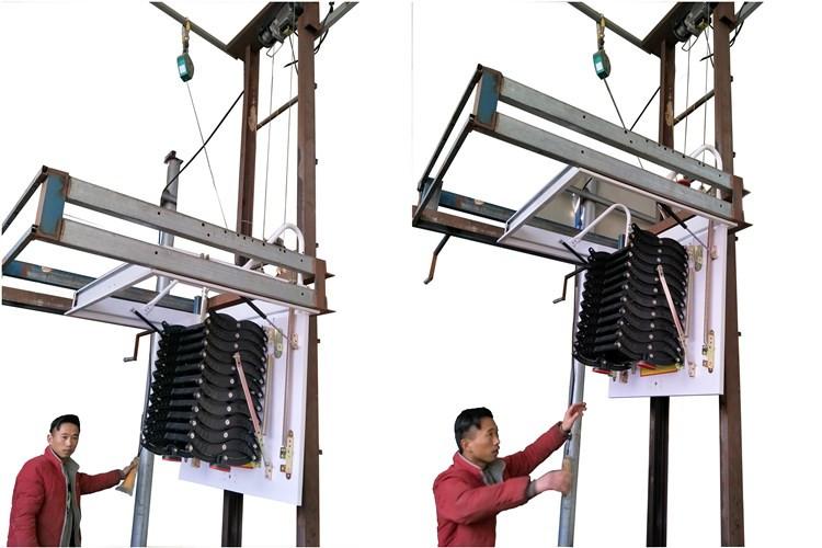 Aluminium Folding Ladder Pull Down Attic Stairs Custom