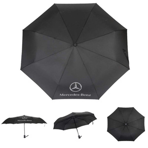 Fully automatic black business windproof car sunshade umbrella for Benz