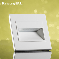 indoor led stair wall light square led step wall light recessed foot wall light