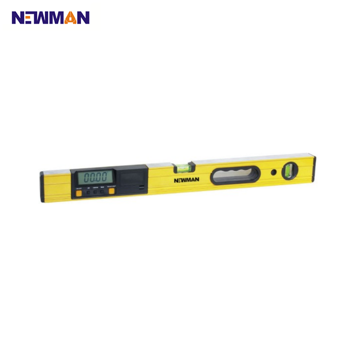 NEWMAN Type 6149 aluminium square tubular bubble flat digital spirit level