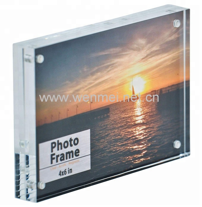 Atacado frameless acrílico photo frame picture frame