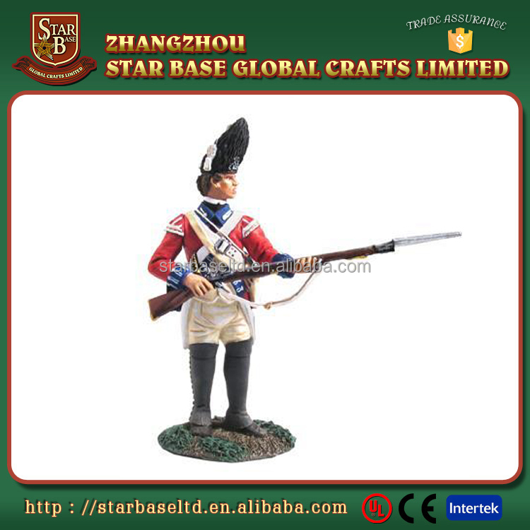 Handsome 3d soldier figures custom made hand paint metal craft
