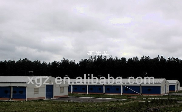 low price modern design automatic equipment prefab poultry house for sale