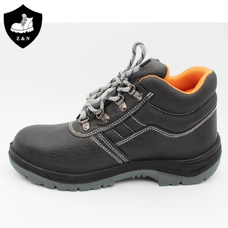 Factory direct sale embossed cow split leather steel toe safty shoes