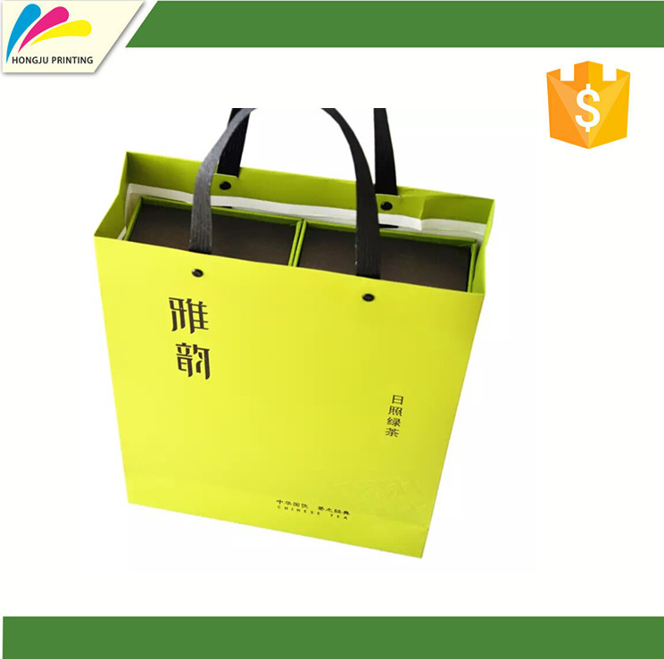 Customized professional paper tote bags for shopping
