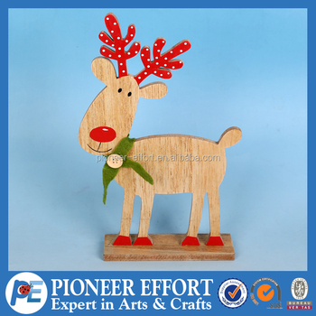 wooden christmas deer modern home decoration