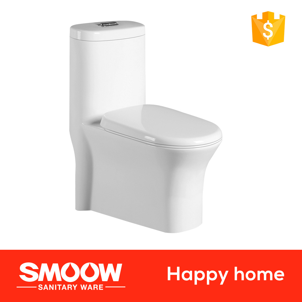 Siphonic SMOOW Ceramic 8037 water closet 685*380*775 Wholesale one-piece toilet