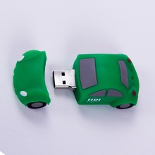 Cute pendrive, custom pvc car shaped usb flash drive, flash memory stick 8gb