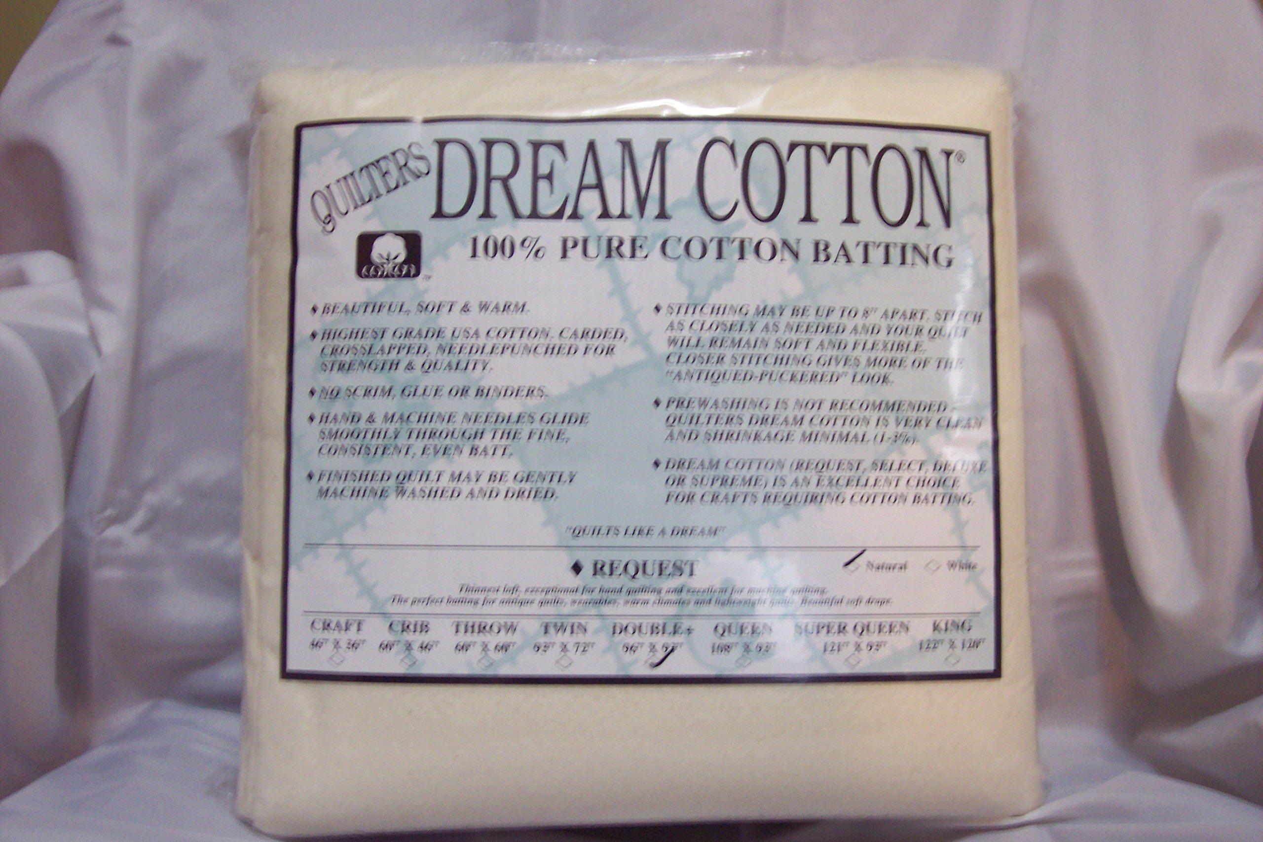 Quilter's Dream Cotton Batting-Natural Request Thin Loft-Double