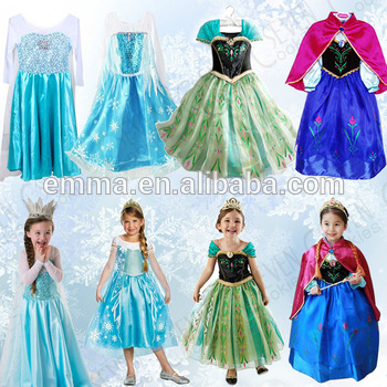 Cheap Frozen Snow Elsa Kids Girls Anna Dresses Princess Dress Cosplay Costume Bc338 Buy Elsa Dresselsa Costumefrozen Elsa Dress Product On