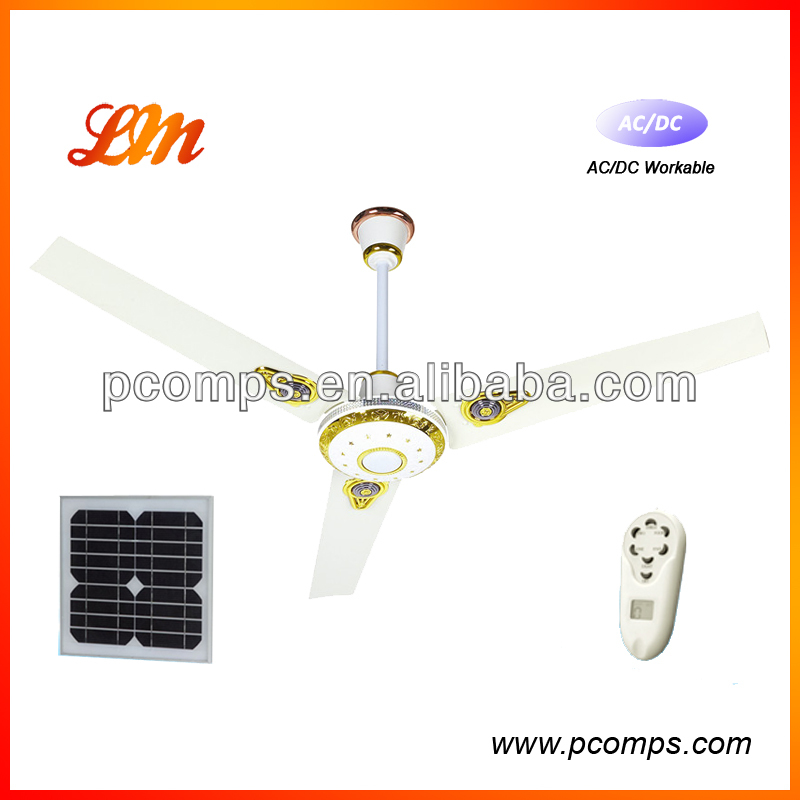 "36"" AC & DC rechargeable solar powered ceiling fan"