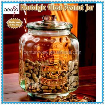 Großes Glasgefäß Für Nüsse 5 Liter Aufbewahrungsglas Mit Glasdeckel