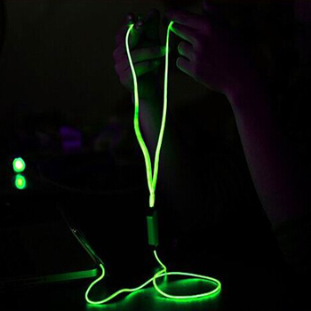 Funny LED light up glowing earphone