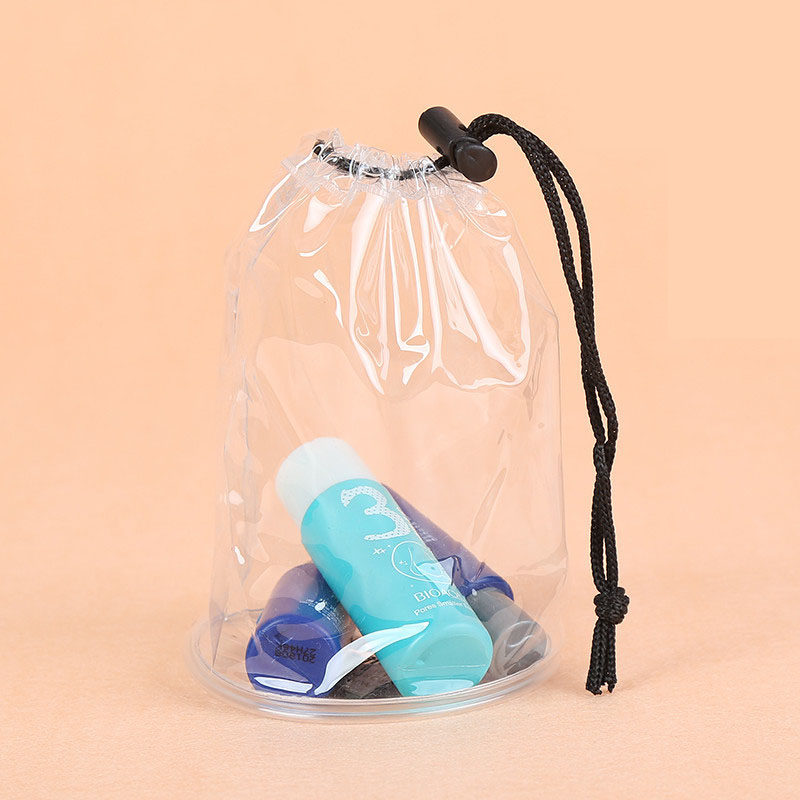 pvc drawstring packing pouch bag gift package recycled pvc clear bag