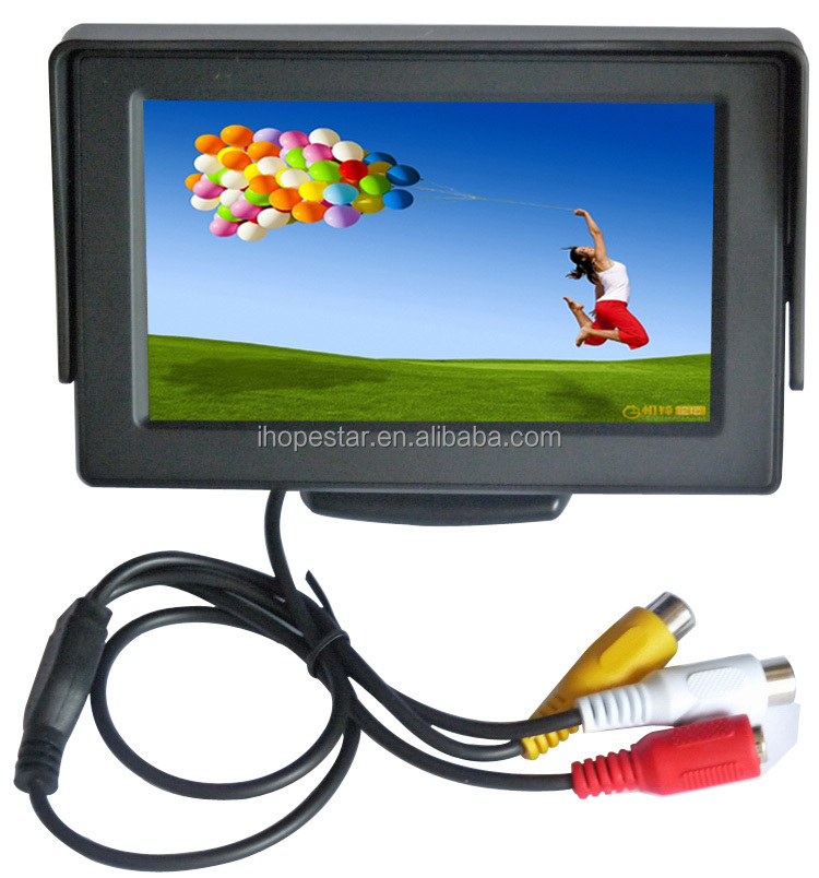 3.5 Inch Small TFT LCD Adjustable Monitor For Security CCTV Camera