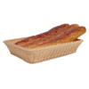 High Quality Rectangle PP Rattan Bread Display Basket