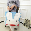 2014 wholesale trendy cartoon patterned mesh tote beach bag ,women fashion holiday vocation beach bag