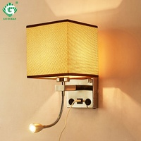 2019 Newest China Creative Led Wall Light with switch Decoration Sconce For Indoor Bedroom Hotel