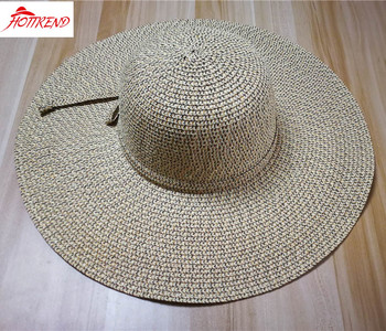 cf3bc0922 Lady Marled Mixed Color Straw Floppy Hat With Paper Sraw Bow Decoration -  Buy Farmers Straw Hats,Crushable Straw Hats,Mixed Color Promotional Straw  ...