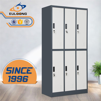 Environmental protection school gym use steel closet cabinet 6 door lockers & Environmental Protection School Gym Use Steel Closet Cabinet 6 Door ...