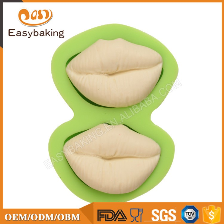 ES-1507 Two lips Silicone Molds for Fondant Cake Decorating