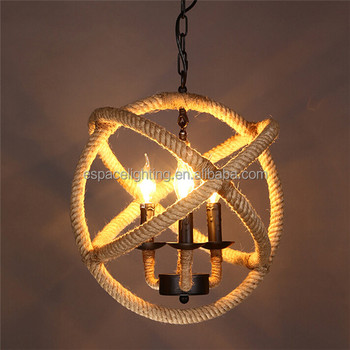 Woven Hemp Rope Lamps Modern