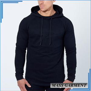 Custom Hoodies Black Side Open Zipper Pullover Plain Hoodies