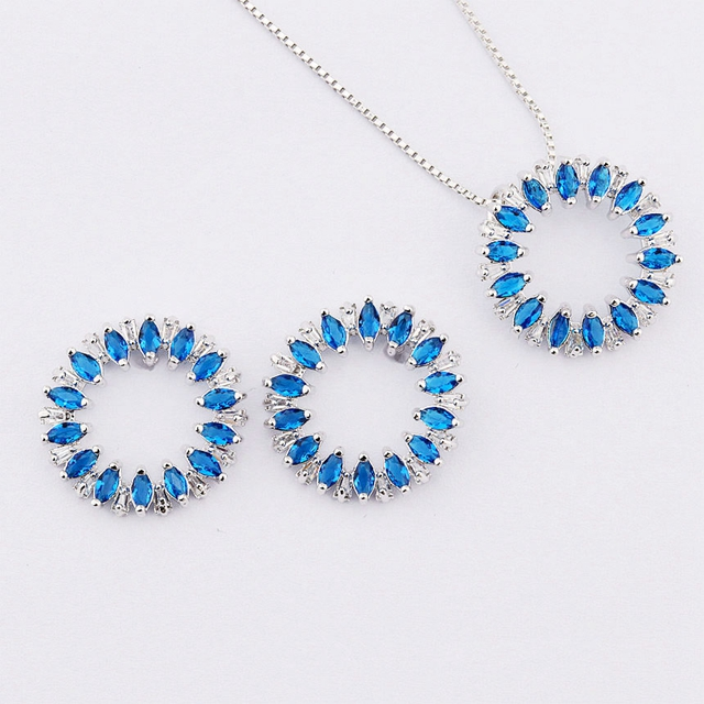 wholesale crystal zirconia gold plated jewelry sets accessories women jewelry