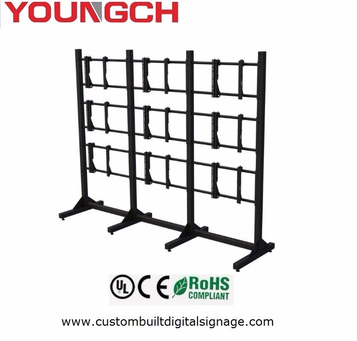 Portable Mobile Rack For 2x2 Video Wall Mount New Solution For Conferences  Where You Can Bring Video Wall With You And Assemble - Buy 2x2 Video Wall