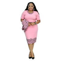 2019 autumn new plus large size African women's dress plus jacket two-piece suit