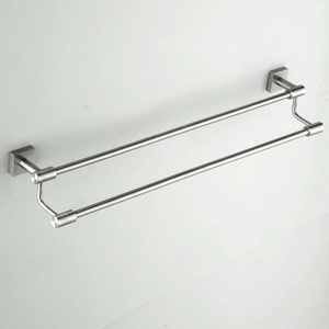 Beelee Stainless Steel Towel Rail Wall Mount Double Towel Bar