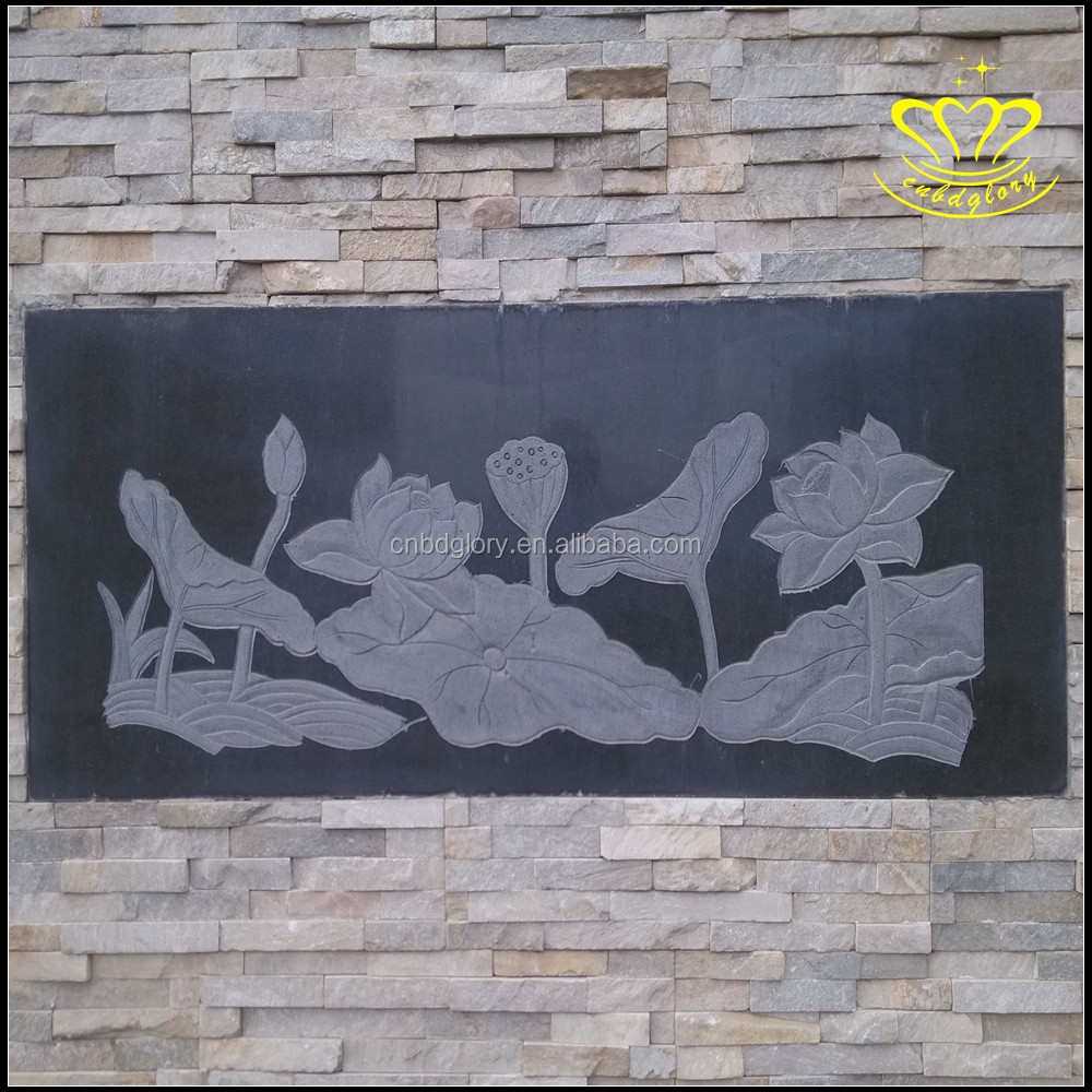 Custom-built outdoor hotel garden view exquisite marble relief wall painting sculpture