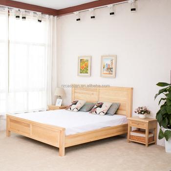 100% Americano Importado Madera Cama Doble Diseños De Muebles De ...