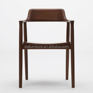 commerical restaurant hotel oak walnut wood dining chair
