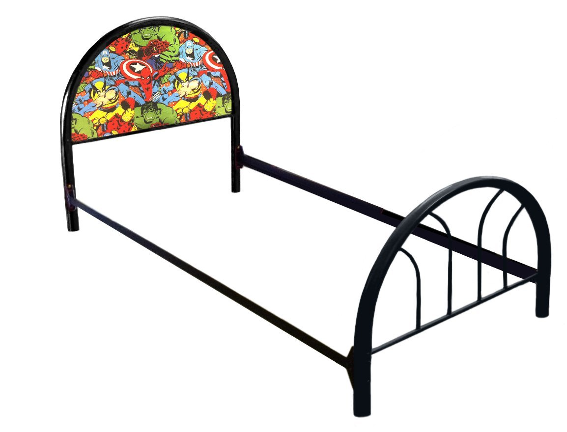 New Twin Size Custom Avengers Comic Book Heroes Themed Bed Set! Includes Head Board, Foot Board and Mattress Rails!