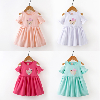 733b89bbcb642 Alibaba Express China Baby Frocks Design Leakage Shoulder Dress Wholesale  Baby Girl Clothes India