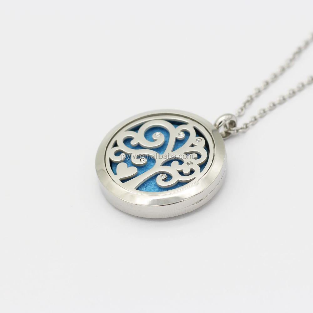 Diffuser Necklace Open Antique Vintage Lockets Pendant Perfume Essential Oil Aromatherapy Locket Necklace With Pads
