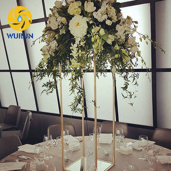 Indoor Decoration Tall Table Standing Metal Flower Display