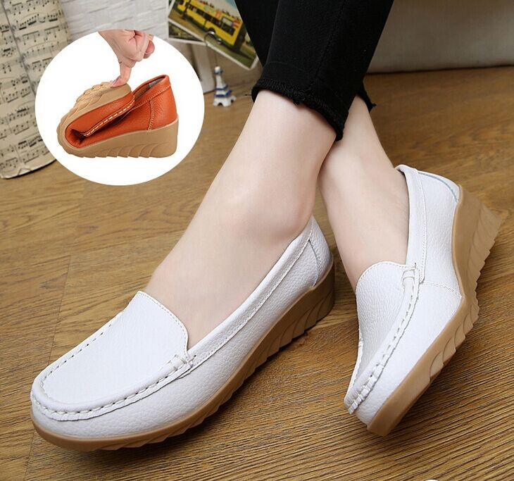 cheap mates all white leather nursing shoes buy