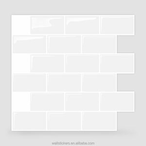 No cementing no grouting peel n stick tile red 3D brick wallpaper