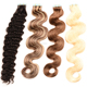 Hot sale Grade 7a 100% Pure Virgin Unprocessed Stick Natural Curly Tape Hair Extension