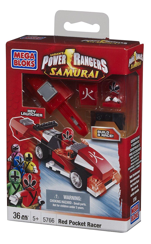 Mega Bloks Power Rangers Red Pocket Racer