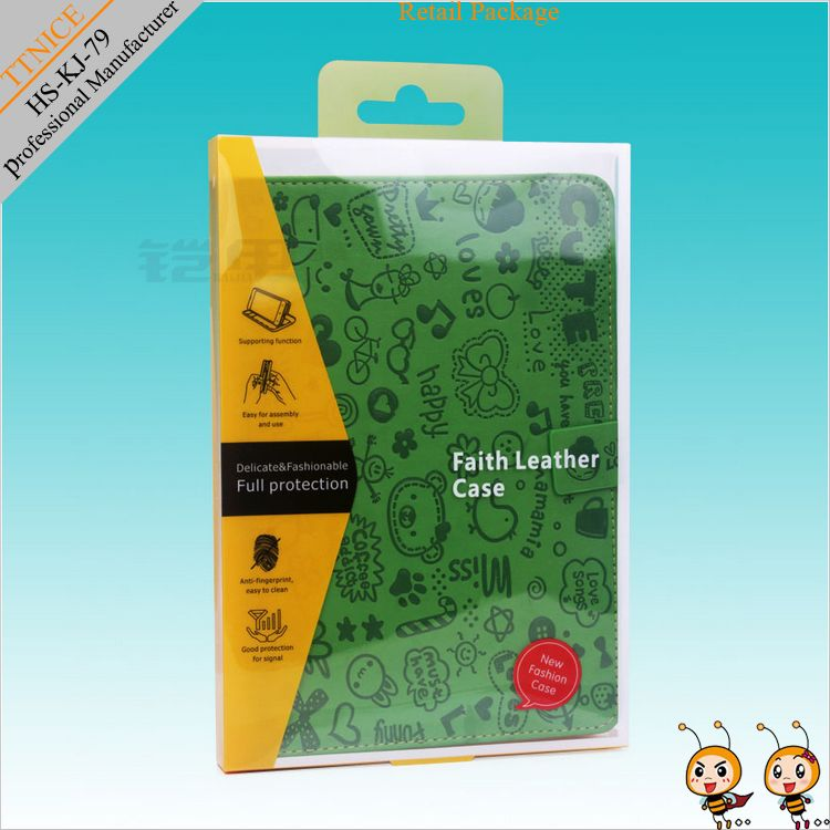 Clear plastic package for tablet pc case packaging