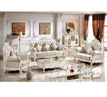 Classic European Living Room Leather Sofa Set Arab Furniture - Buy ...