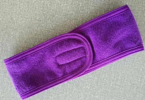 Adjustable Closure Hair Headband with Custom Embroidery Logo Beautiful Salon headband for makeup SPA