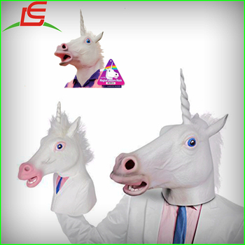 Wholesale Rubber Latex Unicorn Man Hand Puppet