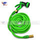 Garden Hose Expandable 50FT + [Metal Wall Hose Hanger] + [9 Patterns Spray Nozzle High Pressure] Kink-Free Lightweight Expanding